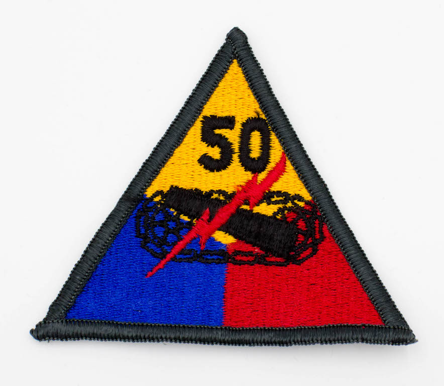 50th Armored Division Insignia Shoulder Sleeve Patch